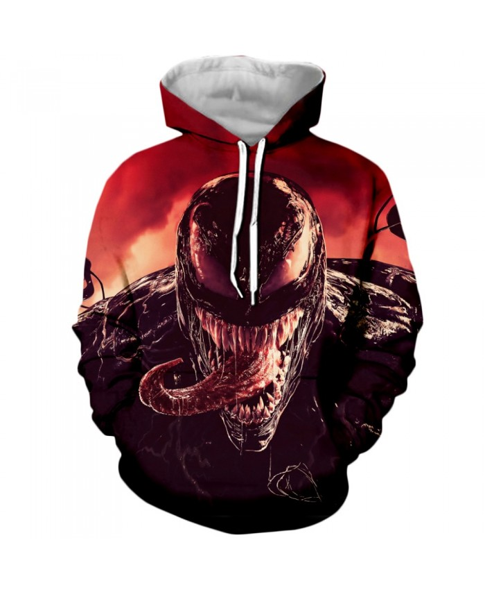 Venom Hoodies Men Women Sweatshirts 3D Printed Hoodie Hip Hop Pullover Hooded Casual Streetwear Tops E