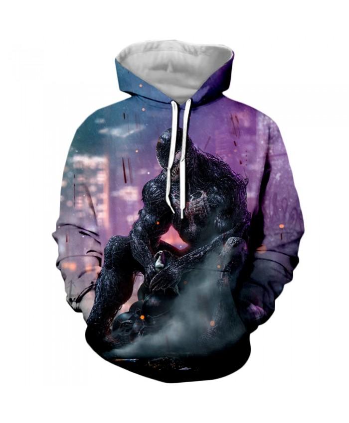 Venom Hoodies Men Women Sweatshirts 3D Printed Hoodie Hip Hop Pullover Hooded Casual Streetwear Tops H