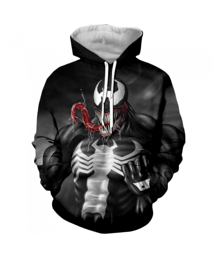 Venom Hoodies Men Women Sweatshirts 3D Printed Hoodie Hip Hop Pullover Hooded Casual Streetwear Tops J