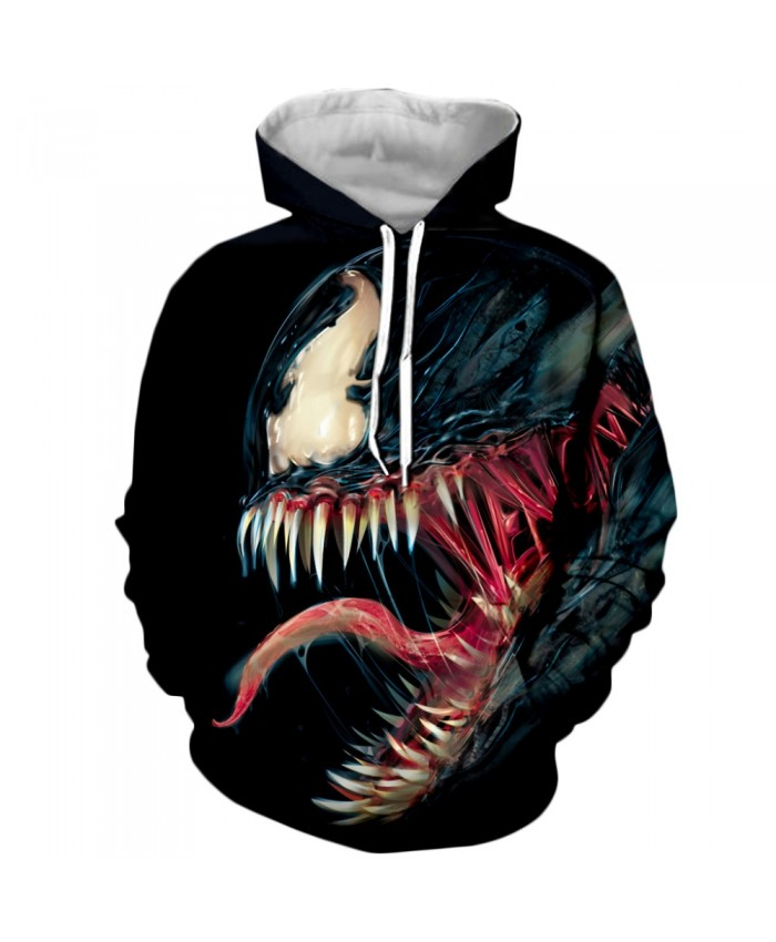 Venom Hoodies Men Women Sweatshirts 3D Printed Hoodie Hip Hop Pullover Hooded Casual Streetwear Tops K