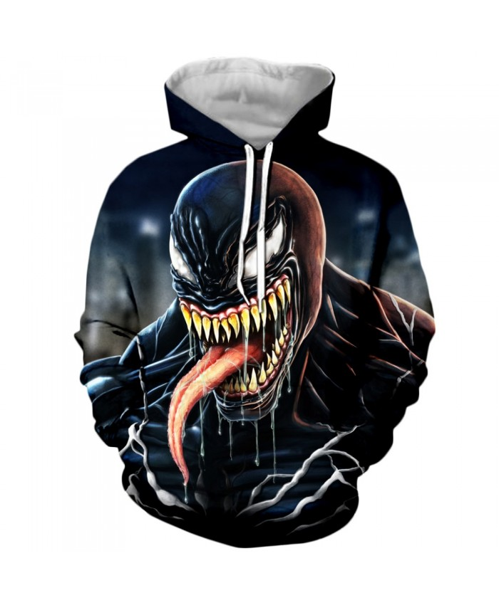 Venom Hoodies Men Women Sweatshirts 3D Printed Hoodie Hip Hop Pullover Hooded Casual Streetwear Tops L
