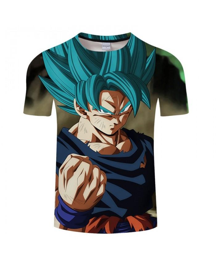 Violent Fist Cartoon Goku Dragon Ball 3D Print Men tshirt Anime Casual Summer Short Sleeve Male Tops&Tee Drop Ship