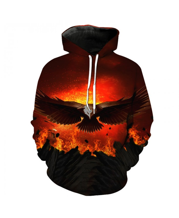 Volcanic Jet Flying Eagle Cool Hoodie Fall Fashion Pullover Casual Hoodie Autumn Tracksuit Pullover Hooded Sweatshirt