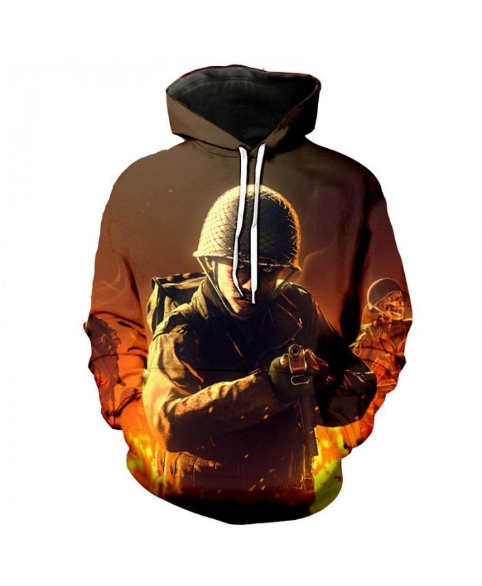War Soldier Cool Hooded Sweatshirt Autumn Hoodies