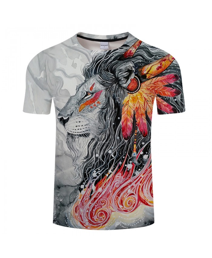 Warrioori2 By Girl Art 3D Printing T-shirt Men Women Summer Top Harajuku Lion Tshirt Short Sleeve drop ship