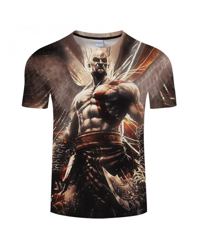 Warrior Tshirt 3D Prints t-shirts NEW Brand O-neck T shirt Men Short sleeve Tees Anime Tops Plus Size Drop Ship