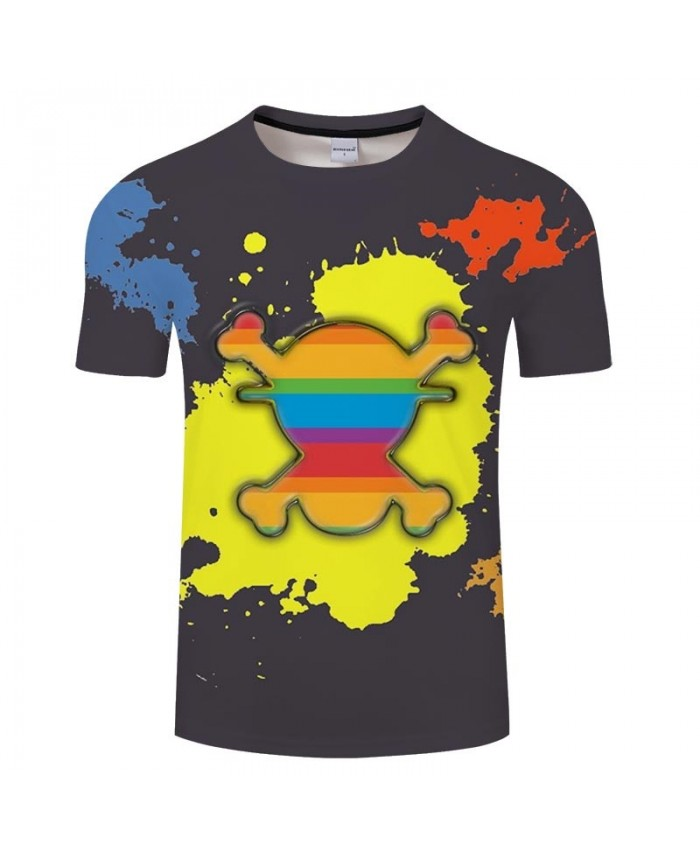 Watercolor Painting One Piece 3D Print Men tshirt Crossfit Shirt Casual Summer Short Sleeve Male tshirt Men Tops&Tee
