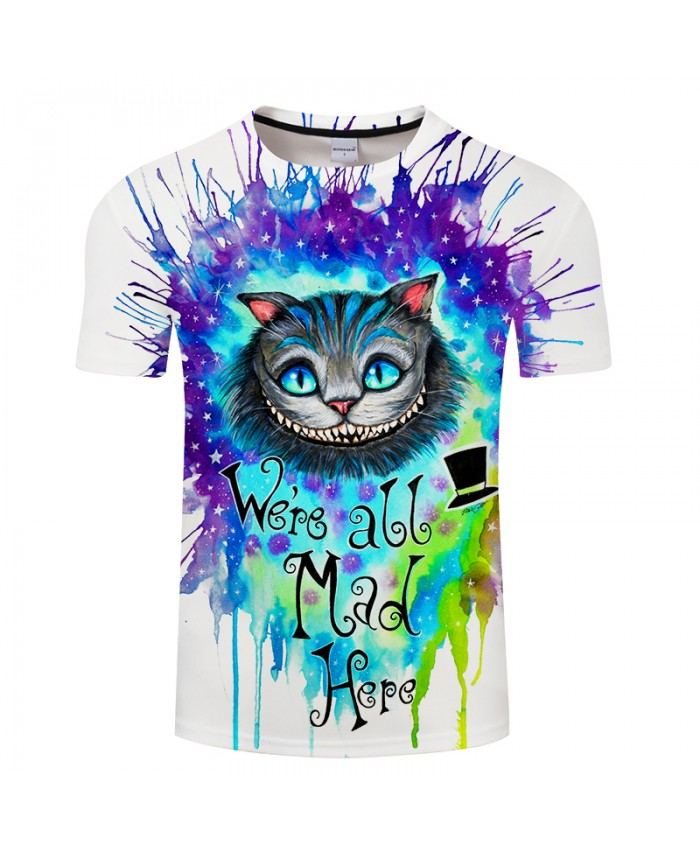 We are all mad here by Pixie cold Art Unisex T-shirt O-neck Short Sleeve Mens tshirts 2021 Tees Tops Drop Ship