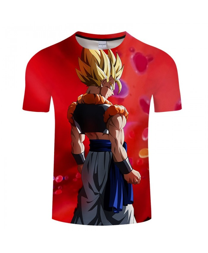 Wearing A Jacket Cartoon Goku Dragon Ball 3D Print Men tshirt Anime Casual Short Sleeve Male Quick Dry Drop Ship