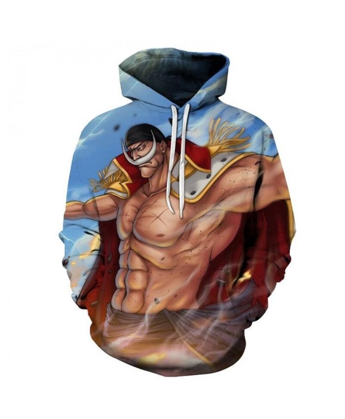 White Beard One Piece 3D Print Men Pullover Sweatshirt Clothing for Men Custom Pullover Hoodie Streetwear Sweatshirt
