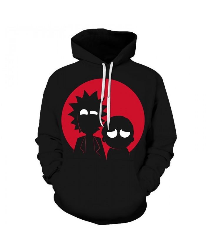 White Eyes Rick And Morty 3D Print Men Pullover Sweatshirt Mens Custom Pullover Hoodie Streetwear Sweatshirt Casual
