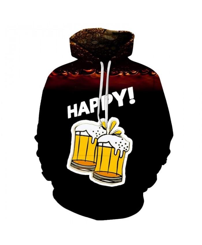 White Foam Beer 3D Print Men Pullover Sweatshirt Pullover Hoodie Casual Fashion Men Hoodie Streetwear Sweatshirt