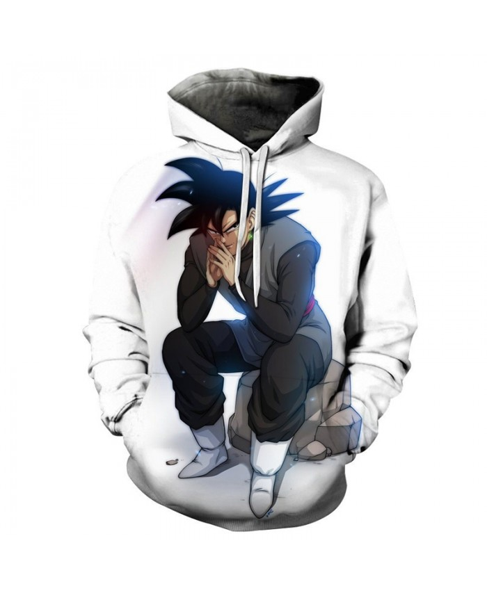 White Goku 3D Print Hoodie Unisex Tracksuit Men Women Sweatshirts Streetwear Pullover Dragon Ball Top DropShip