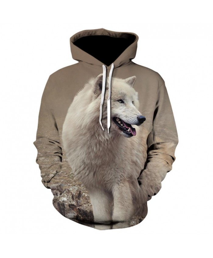 White Wolf Hoodies Hoodie Men/Women Hip Hop Autumn Winter Hoody Tops Casual Brand 3D Wolf Hoodie Sweatshirt Dropship A