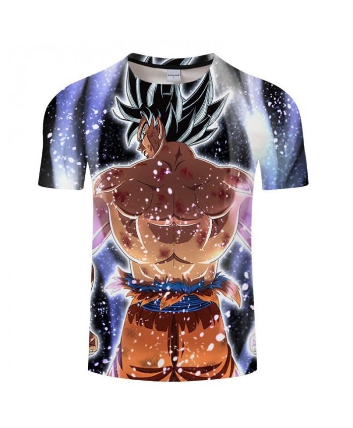 Whole Body Muscle Cartoon Goku Dragon Ball 3D Print Men tshirt Anime 2019 Casual Short Sleeve Male O-neck Drop Ship