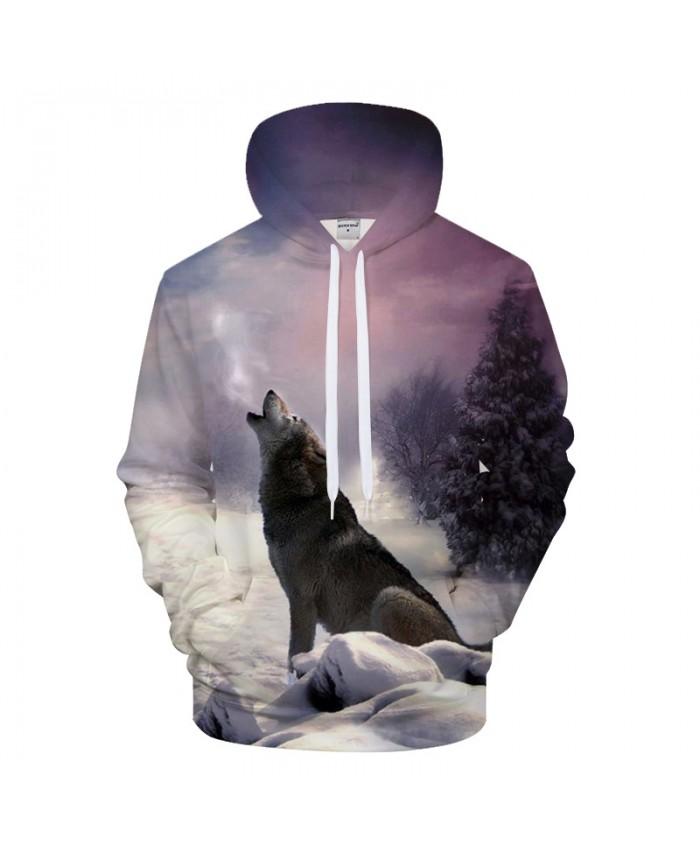 Winter Wolf Hoodies 3D Hoody Men Sweatshirt Harajuku Hoodie Streatwear Coat Anime Tracksuit Pullover HipHop DropShip