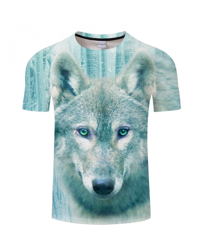 Winter Wolf Printed shirt Men Casual t shirt Unisex 2019 Summer O-neck Short Sleeve Camisetas Hombre Drop Ship