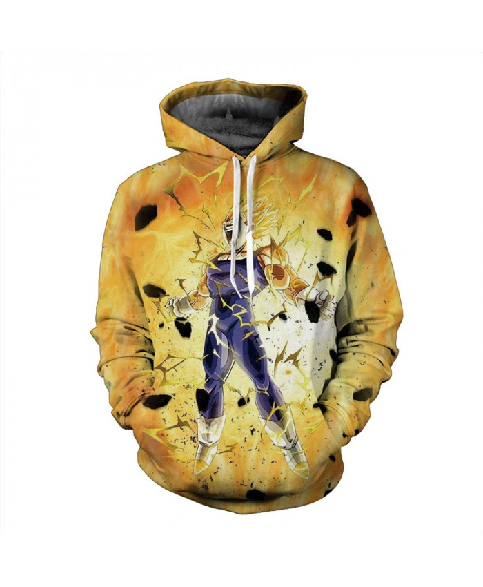 Winter coat Perak Dragon Ball clothing hip hop hoodies men Cartoon printed jacket high quality casual yellow hoodie sweatshirt
