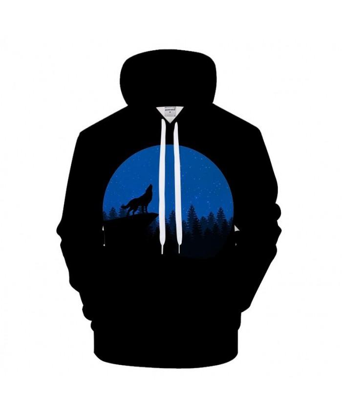Wolf 3D Hoodies Men Print Hoody Casual Tracksuit Groot Sweatshirt Brand Coat Pullover Male Streatwear Moon DropShip