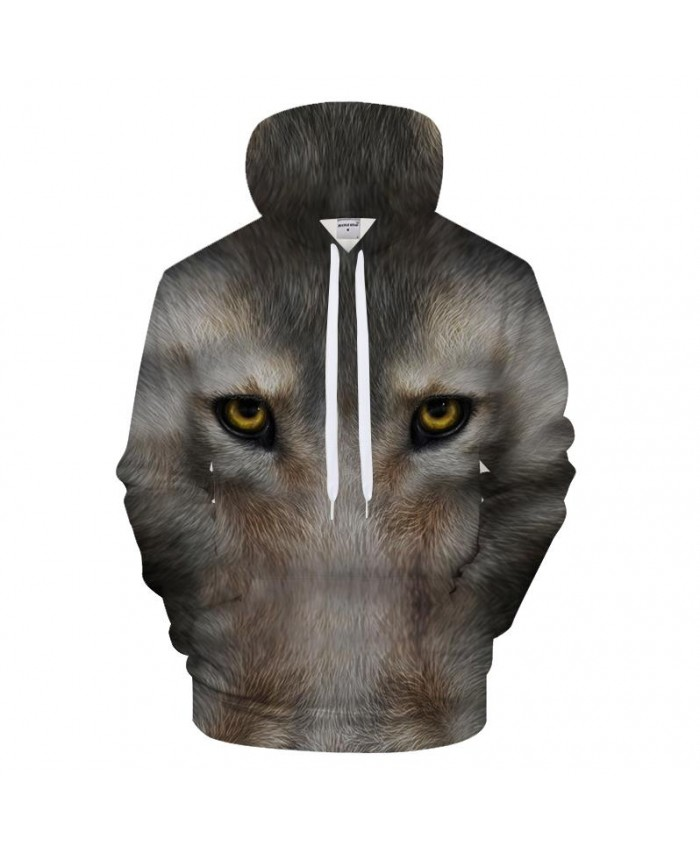 Wolf 3D Print Hoodies Men Casual Sweatshirt Hooded Tracksuits Brand Pullover Hoodie Coat Drop Ship