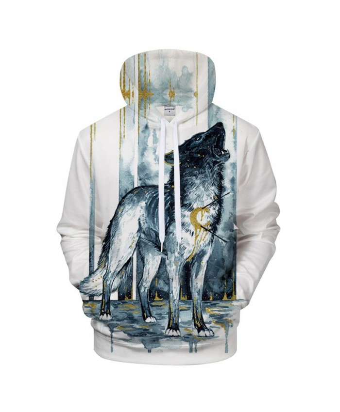 Wolf 3D Printed Hoodies Men Sweatshirts Pullover Tracksuit Hooded Coat Streetwear Hoody Autumn