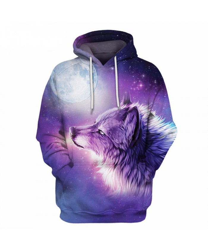 Wolf 3D Prints Sweatshirts Men Hoody Men Hoodie Funny Hoodies Loose Tracksuit Autumn Winter Hooded Coat Drop Ship Eu size