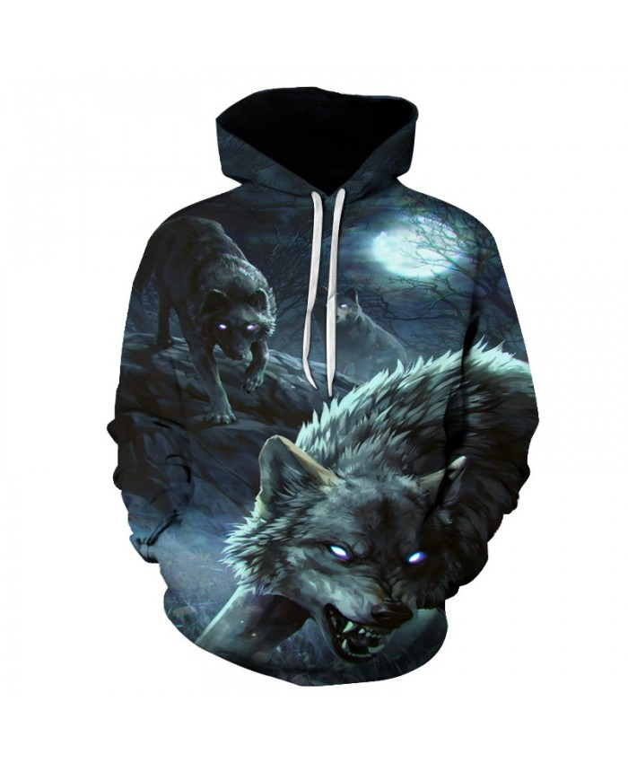Wolf Animal Print Hoodie Sweatshirt Men Women Casual Hip Hop 3D Hoodies Sweatshirts Men Streetwear Hoody Tracksuit Outwear