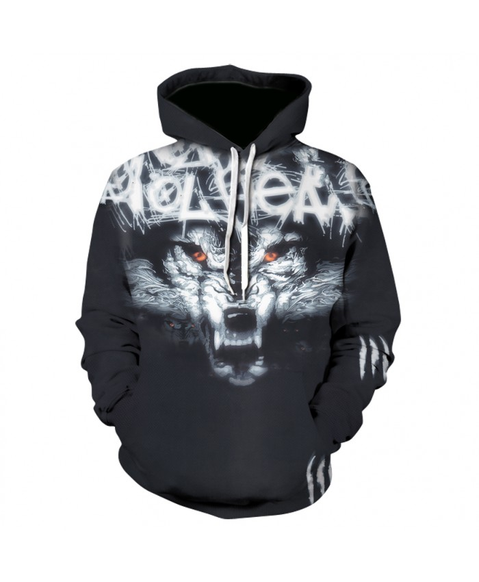 Wolf Art Printing Hoodies Men Women New Fashion Autumn Winter Pullover Hoody Tops Casual Hip Hop 3D Hoodie Sweatshirt Male Coats