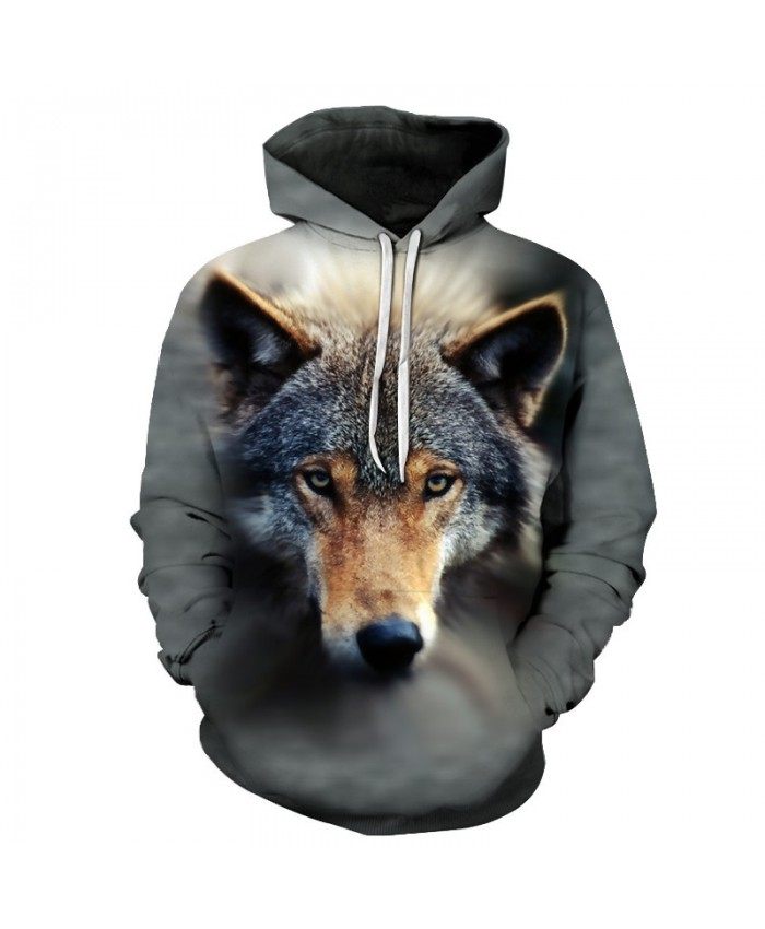 Wolf Dog Sweatshirts Men Hoodies Animal Tracksuits 3D Prints Pullover Streetwear Coat Harajuku Hoody 6xl Drop Ship