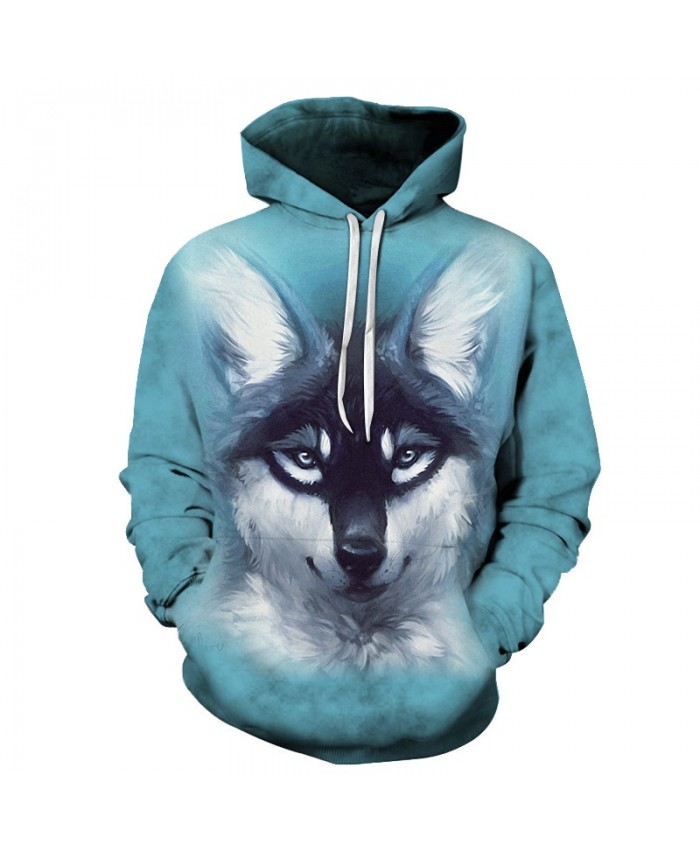 Wolf Dog Sweatshirts Men Hoodies Anime Tracksuit 3D Printing Pullover Autumn Hoody Hooded Coat Streetwear Drop Ship