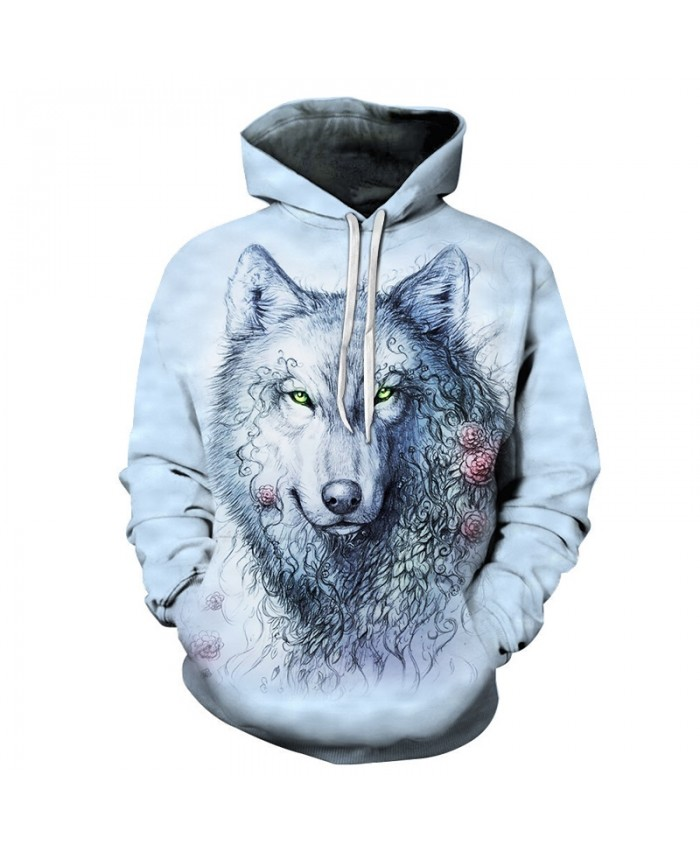 Wolf Dog Sweatshirts Men Hoodies Anime Tracksuit 3D Printing Pullover Streetwear Coat Funny Hoody Anime Drop Ship