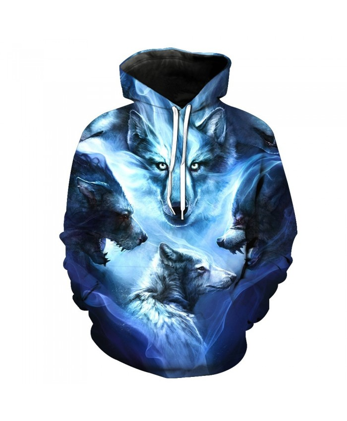 Wolf Hoodies 3D Men Women Sweatshirts Fashion Autumn Tracksuits Harajuku Outwear Casual Animal Male Jacket Pullover