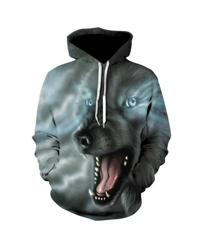Wolf Hoodies 3d Print Animal Wolf Men's/women Hoody Sweatshirt Hip Hop Unisex Pullover With Big Pockets Tops
