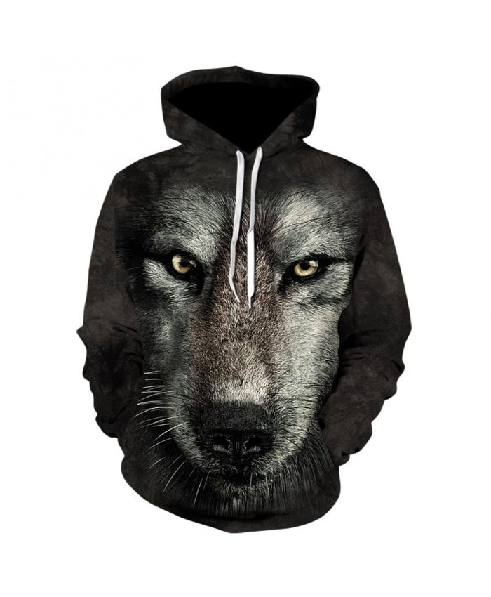 Wolf Hoodies Men/women Clothing Pocket Animal Hoddie Sweatshirt Big Size 3d Hoodies Hooded Hip Hop Casual