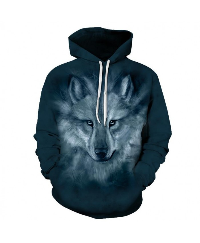 Wolf Hoodies Sweatshirts Men Tracksuit 3d Hoodies Men Hooded Pullover Autumn Winter Hoodie Printed Coat Drop Ship