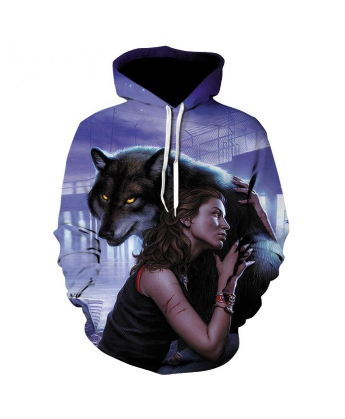 Wolf Hoodies men/women 3D Hoodies Long Sleeve Hoody Animals Tracksuits Cool Design Pullover Men's Winter Sportswear
