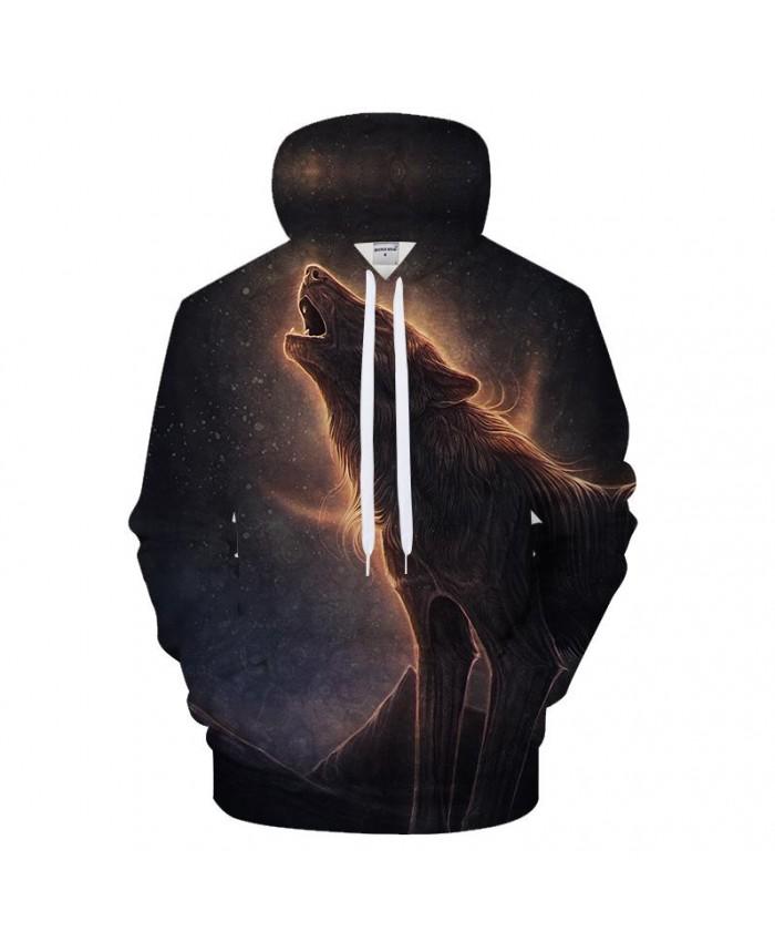 Wolf In Desert 3D Hoodies Men Hoody Casual Sweatshirt Streetwear Pullover Hip Hop Tracksuit Printed Coat Drop ship