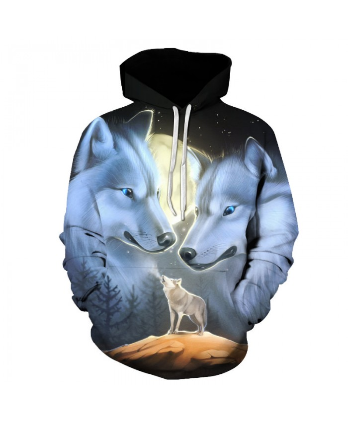 Wolf Printed 3d Hoodies Novelty Sweatshirts Fashion Casual Coats Male Hooded Jackets Funny Outwear Unisex Tracksuits