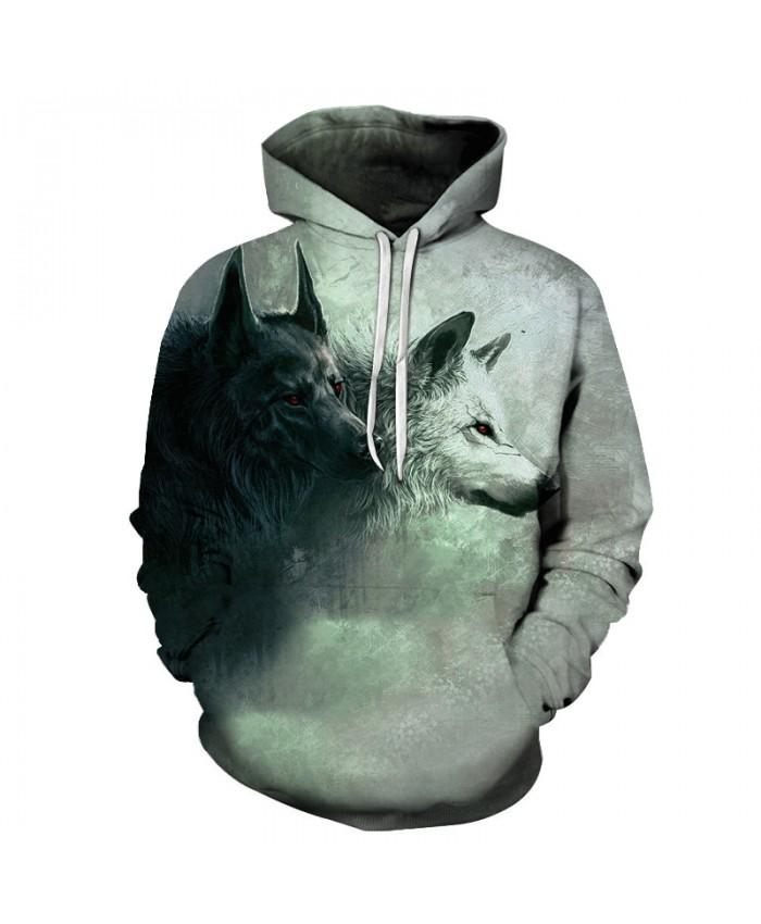 Wolf Printed Hoodies 3D Brand Men Sweatshirts Male Hooded Tracksuits Pocket Jackets Animal Hoodie Autumn Novelty Streetwear Coat