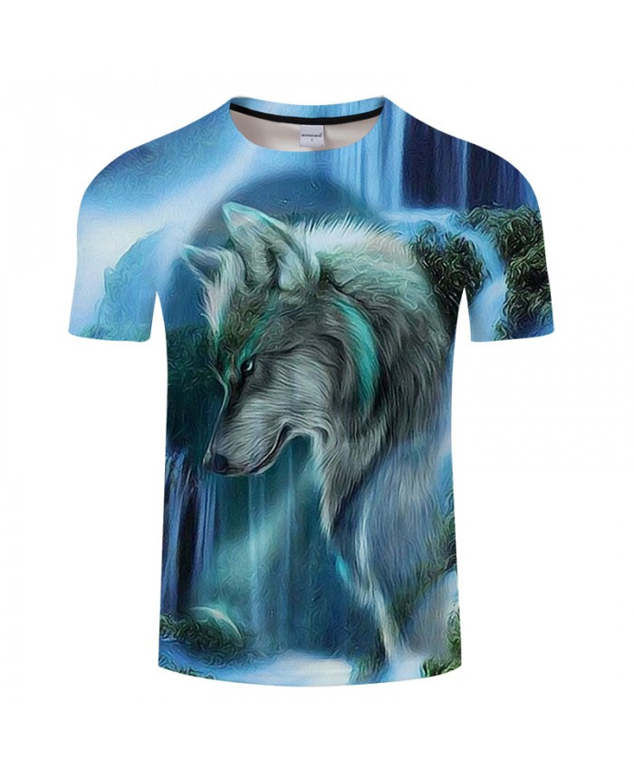 Wolf Printed T shirt Men Brand Anime Women Animal 3D t-shirt Summer Casual Tops&Tees Short Sleeve Tshirts Hot