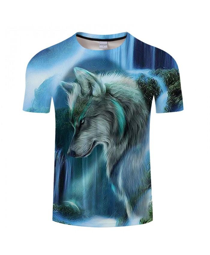 Wolf Printed T shirt Men Brand Anime Women Animal 3D t-shirt Summer Casual Tops&Tees Short Sleeve Tshirts Hot