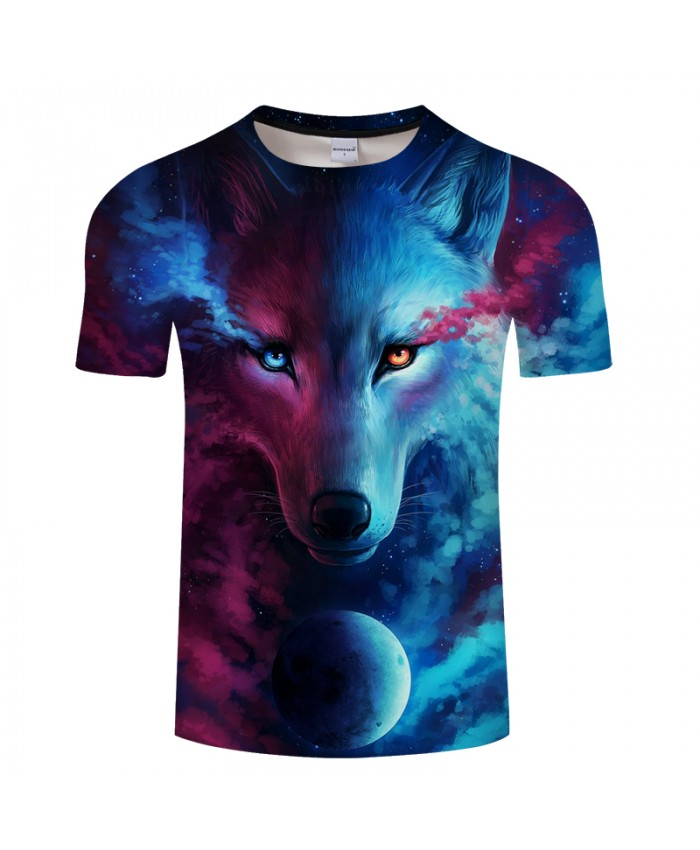 Wolf Printed T shirts Men 3d T-shirts Drop Ship Top Tee Short Sleeve Camiseta Round Neck Tshirt Fashion Casual Brand 6XL Quality