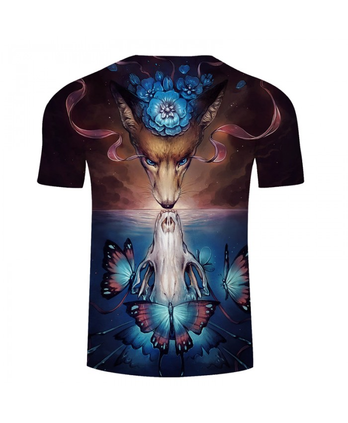 Wolf printing 3d men t shirt cool design fashion animal for Drop ship t shirt printing