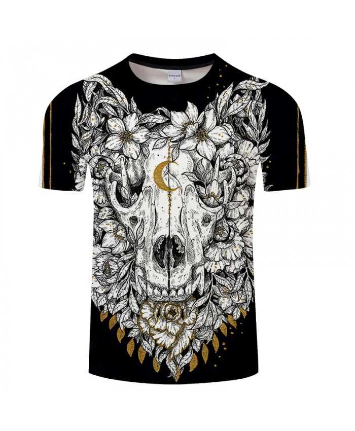 Wolf Skull By Girl Arts 3D Print T shirt Men Summer Anime Short Sleeve Top&Tee Boy Tshirt Streetwear Women Drop Ship