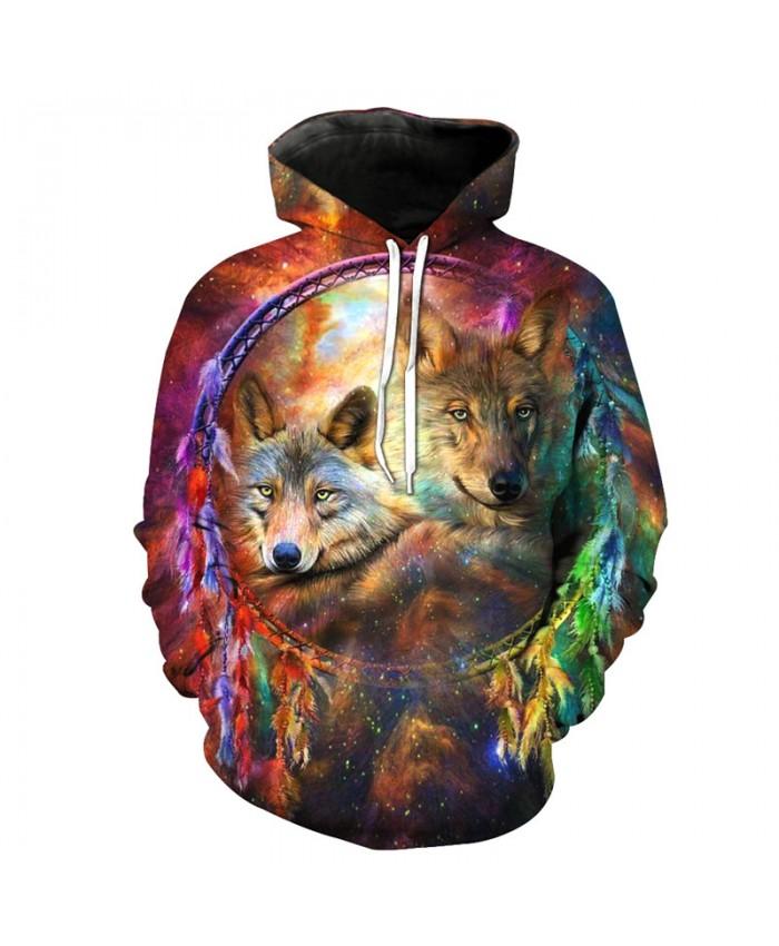 Wolf Style Fashion 3D Hooded Sweatshirt Cool Streetwear Sweatshirt Men Women Casual Pullover Sportswear