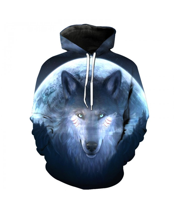 Wolf Style Fashion Hooded Sweatshirt Cool Pullover Men Women Casual Pullover Sportswear