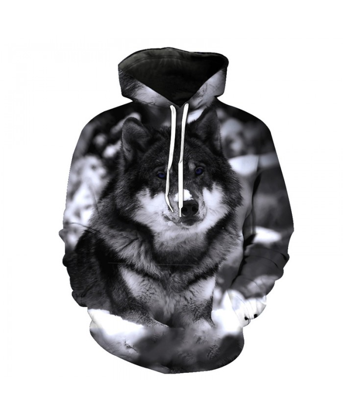 Wolf Style Fashion Hoodie Sky Prairie Wolf Print Casual Hooded Pullover Printed Hooded Sweatshirt Tracksuit Pullover Hooded Sweatshirt
