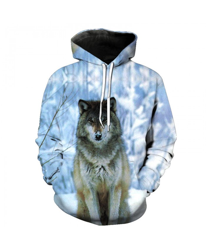 Wolf Style Snow Watchman Leisure Hooded Sweatshirt Autumn Casual Pullover Men Women Casual Pullover Sportswear
