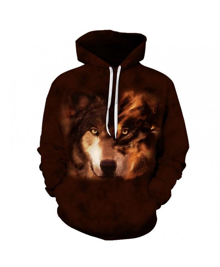 Wolf Sweatshirts Men Hoodies Mens Tracksuits 3D Printing Pullover Anime Hoody Streetwear Coat Brand Hoodie Drop Ship