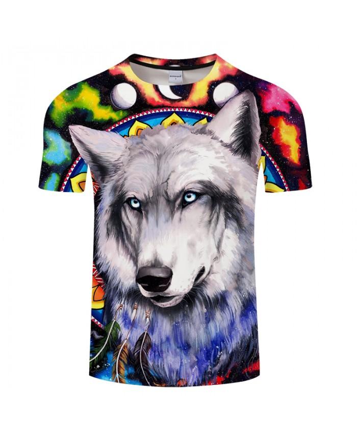 Wolf galaxy By Pixie coldArts 3D Print T shirt Men Summer Anime Short Sleeve Boy Tops&Tee Tshirts Camiseta Drop Ship New
